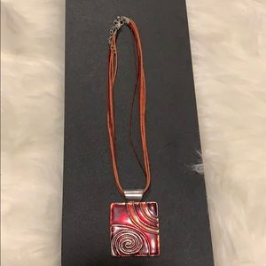 Jewelry - Red and silver necklace